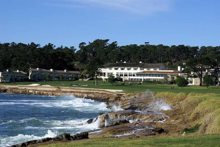 The 18th At Pebble Beach Photograph