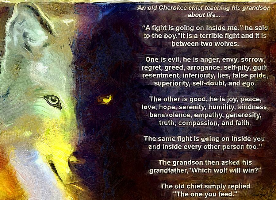 The 2 Wolves Within by Wayne Pascall