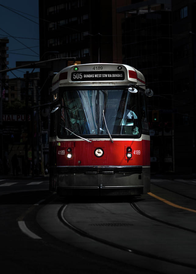 The 505 Dundas Streetcar Toronto Canada Color Version Photograph