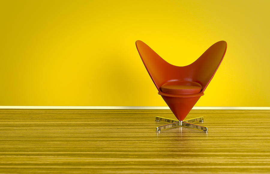 The 70s. Heart-Shaped Cone Chair Photograph by ThomasVogel