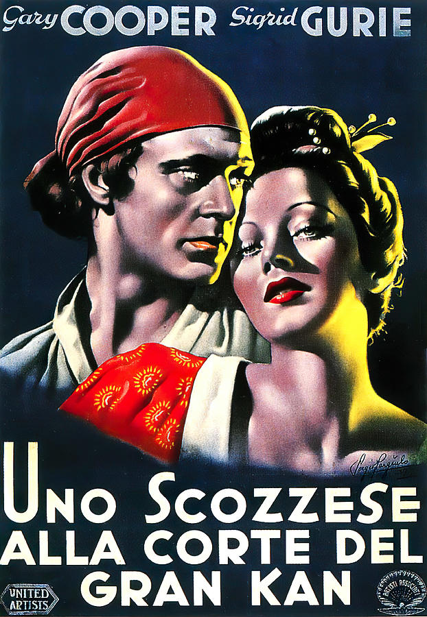 the Adventures Of Marco Polo, With Gary Cooper, 1938 Mixed Media