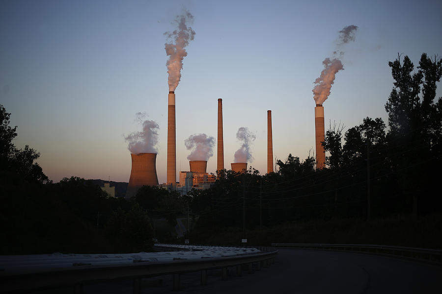 The AEP Coal-Fired John E. Amos Power Plant As EPA Reviews MATS Photograph by Bloomberg