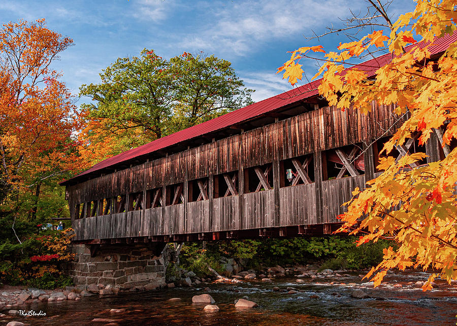 The Albany Covered Bridge in New Hampshire by Tim Kathka