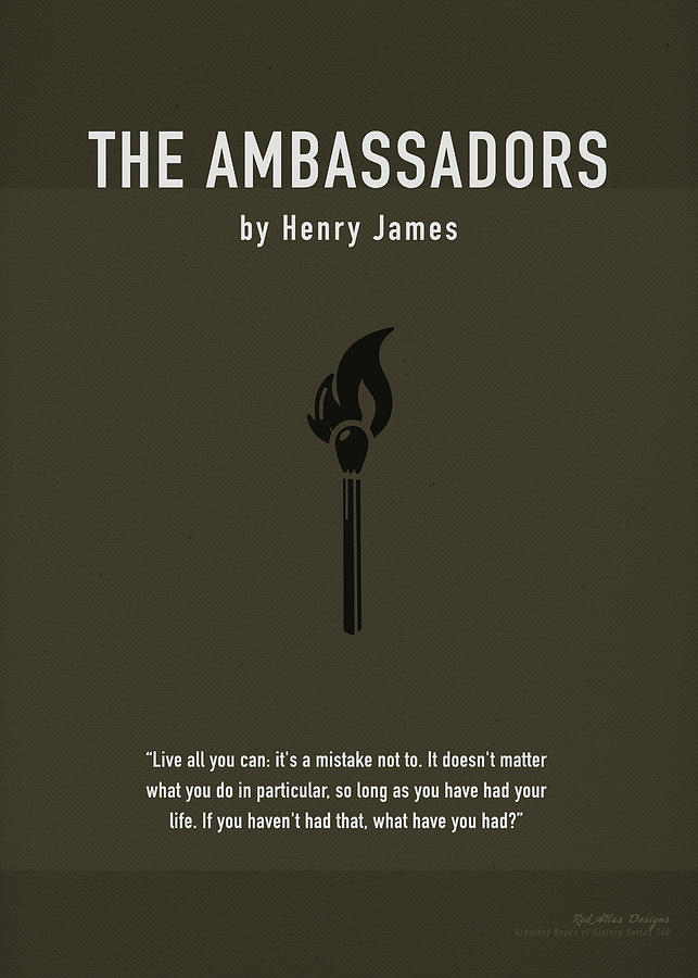 The Ambassadors Mixed Media - The Ambassadors By Henry James Greatest Books Ever Art Print Series 160 by Design Turnpike