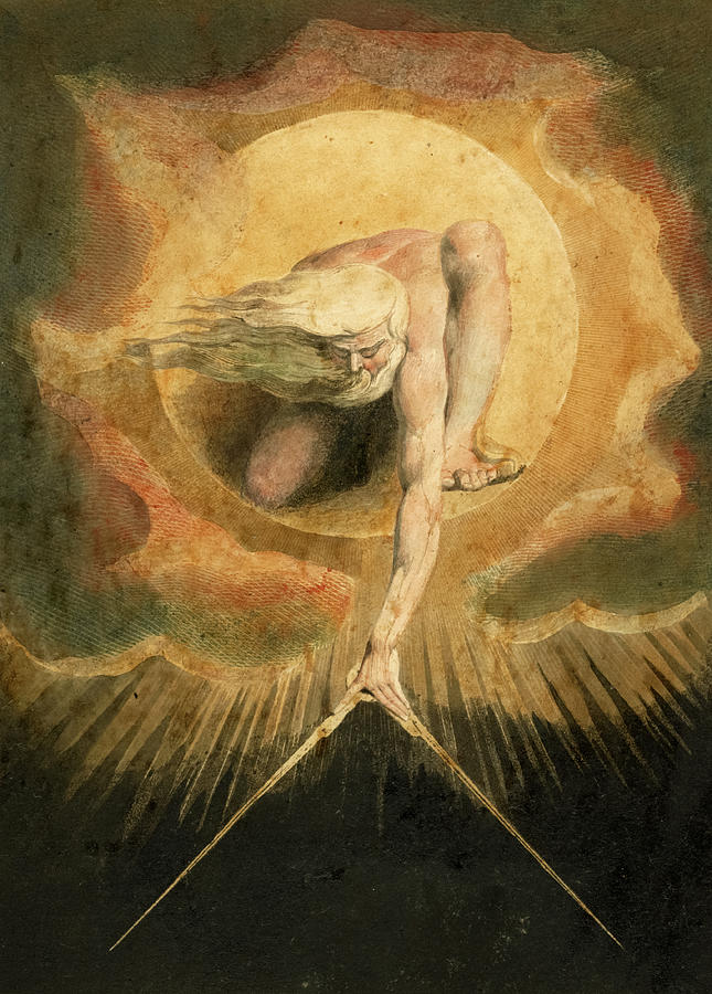 William Blake Painting - The Ancient Of Days, Europe A Prophecy, 1794 by William Blake