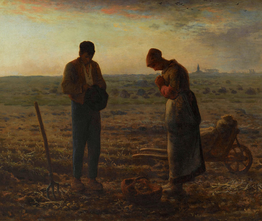 Jean-francois Millet Painting - The Angelus, 1859 by Jean-Francois Millet