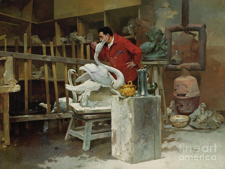 Animal Painting - The Animal Sculptor, 1894  by Louis Robert Carrier-Belleuse
