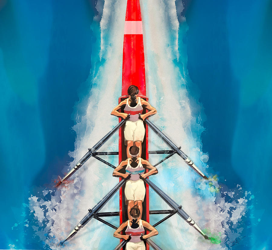 The Art Of Rowing Mixed Media