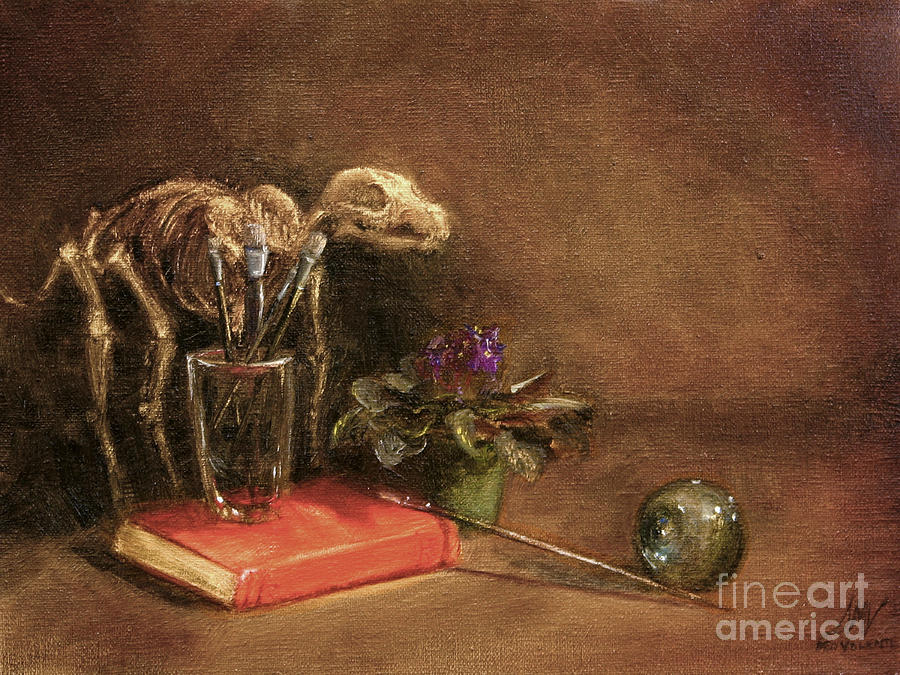 Dog Painting - The Artists Taboret- Cave Canum by Stella Violano