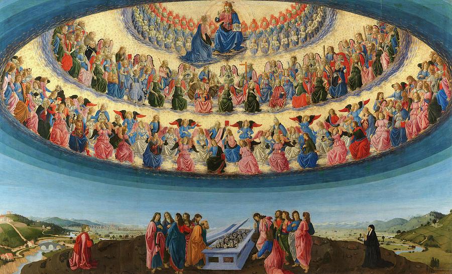 Assumption Of The Virgin Painting - The Assumption Of The Virgin, 1476 by Francesco Botticini
