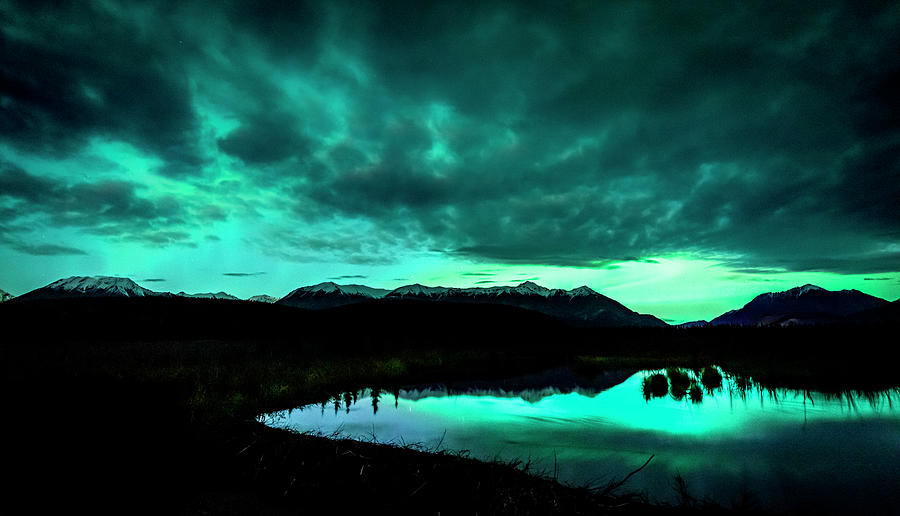 The Aurora Over The Cantwell Beaver Pond Photograph