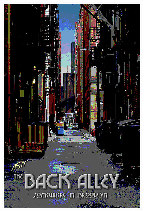 Back Alley Digital Art - The Back Alley by Jason Neptune