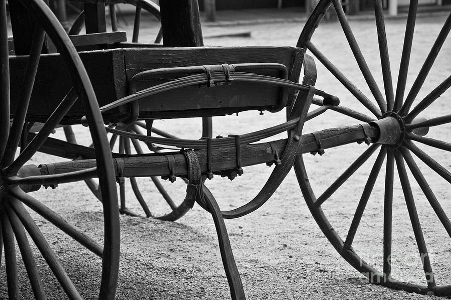 Buggy Photograph - The Back Of A Carriage by Kirt Tisdale