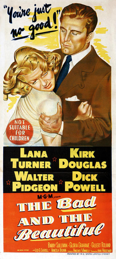 the Bad And The Beautiful, With Lana Turner And Kirk Douglas, 1953 Mixed Media
