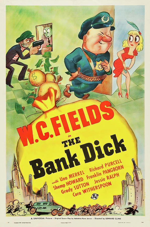 the Bank Dick Movie Poster 1940 Mixed Media