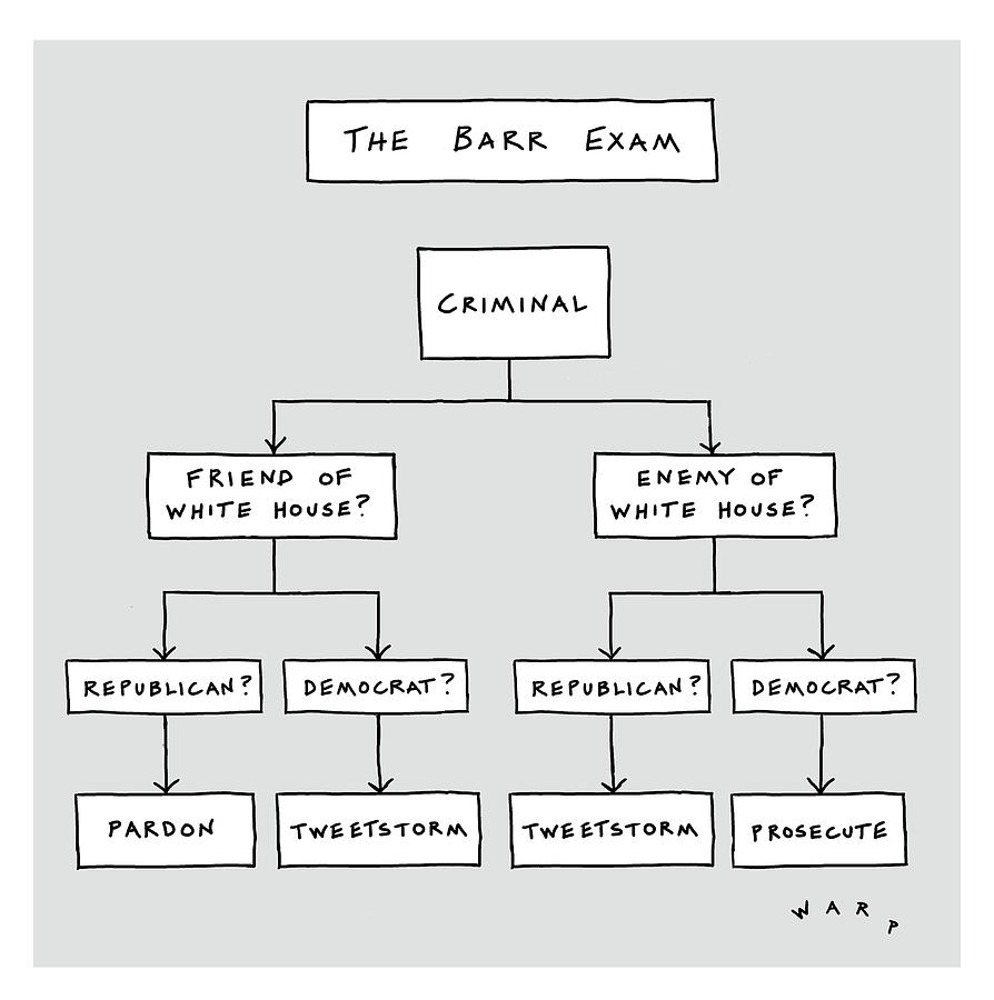 The Bar Exam Drawing by Kim Warp