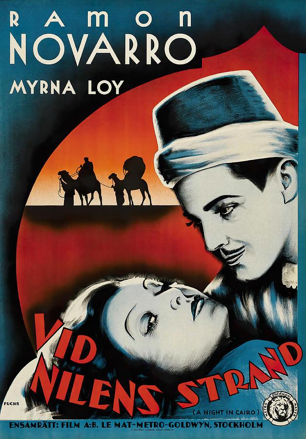 the Barbarian, With Ramon Novarro And Myrna Loy, 1933 Mixed Media