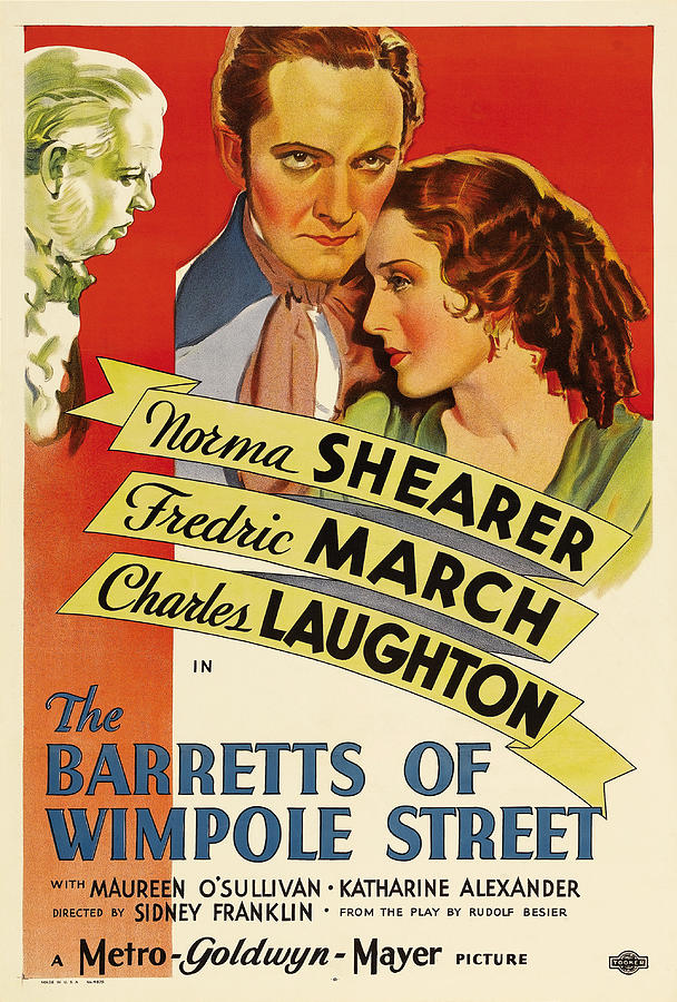 the Barretts Of Wimpole Street, With Norma Shearer And Fredric March, 1934 Mixed Media