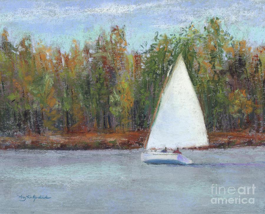 Sailboat Painting - The Basin by Amy Kirkpatrick