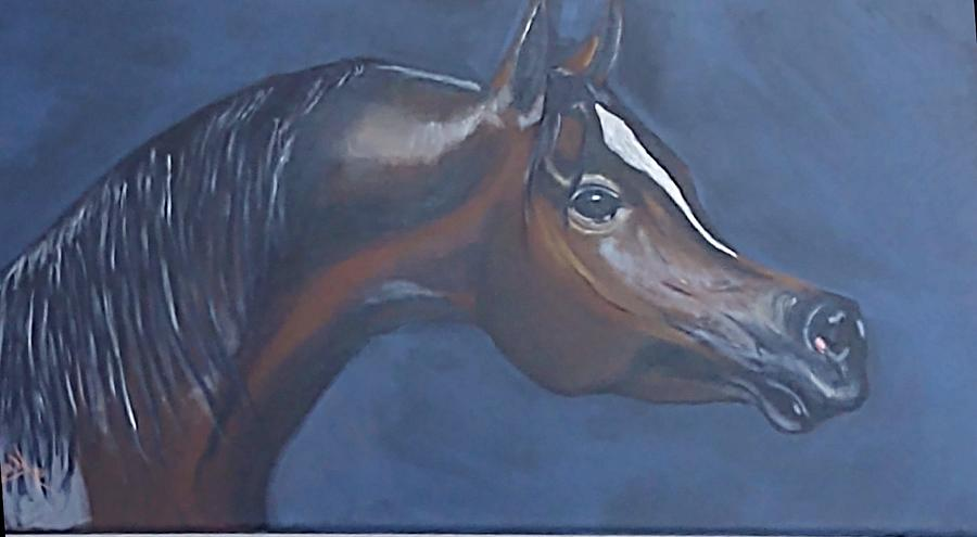 Horse Painting - The Bay Mare by Diana Cochran