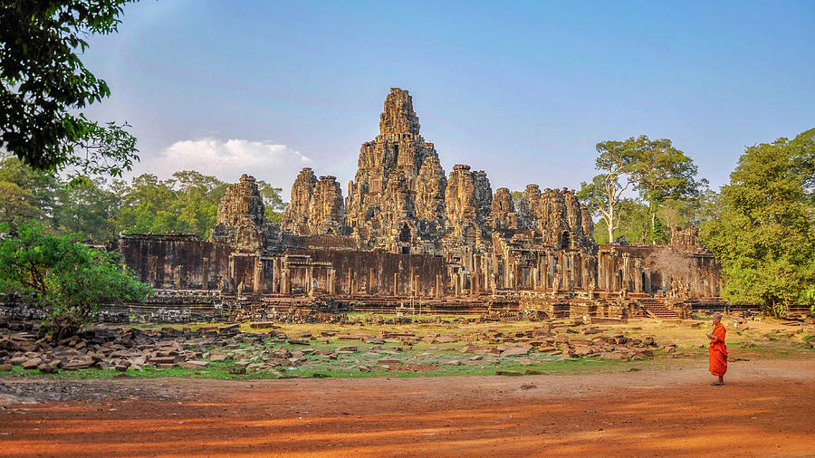 The Bayon At Angkor Wat Photograph