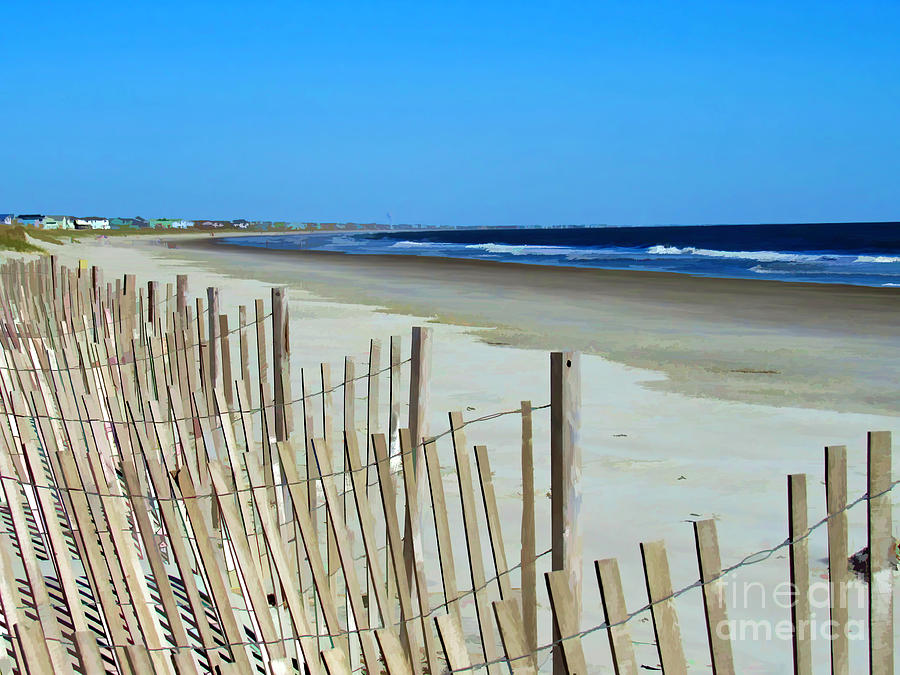The Beach at Holden Beach North Carolina by Roberta Byram