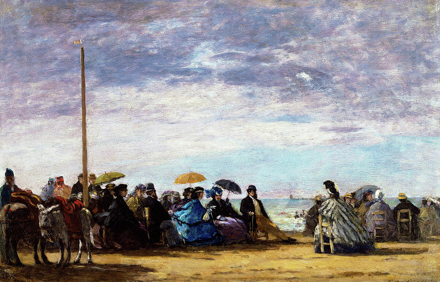 Eugene Louis Boudin Painting - The Beach - Digital Remastered Edition by Eugene Louis Boudin