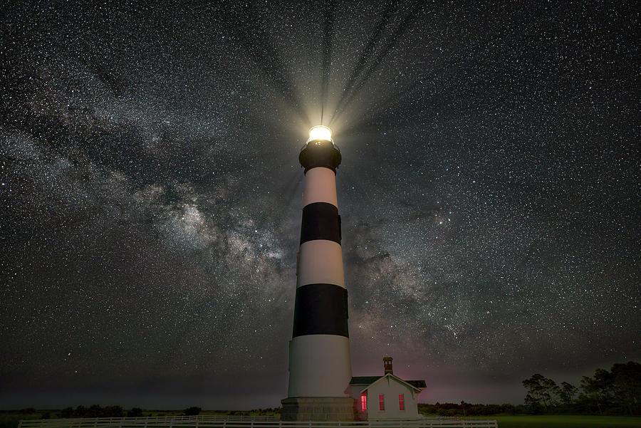 Lighthouse Photograph - The Beacon by Arthur Oleary