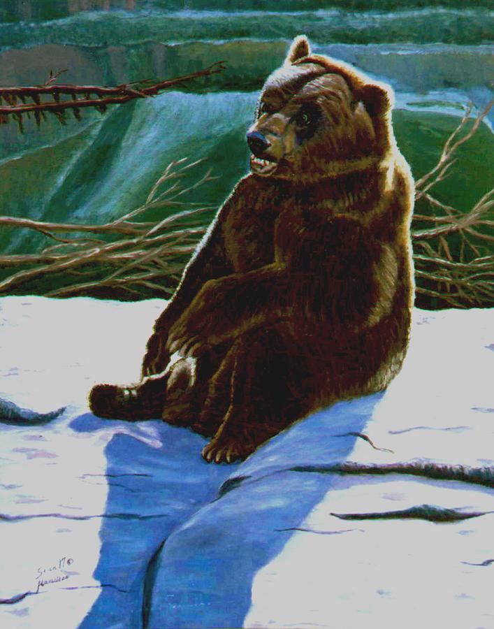 Bear Painting - The Bear by Stan Hamilton