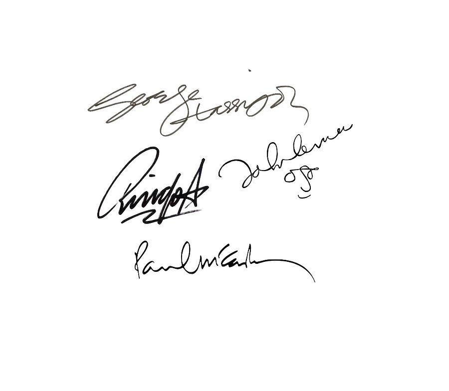 The Beatles Sign Signature Transparent Background Png Clipart Signatures Autographs Firma Autografo Digital Art By Music N Film Prints