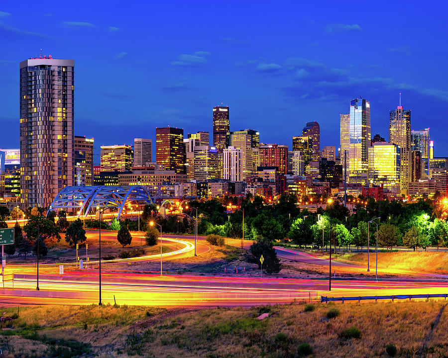 The Beautiful And Vibrant Denver Skyline Photograph
