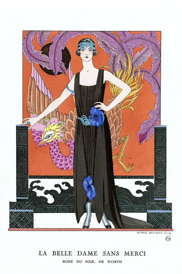 The beautiful lady without mercy 1921 by George Barbier