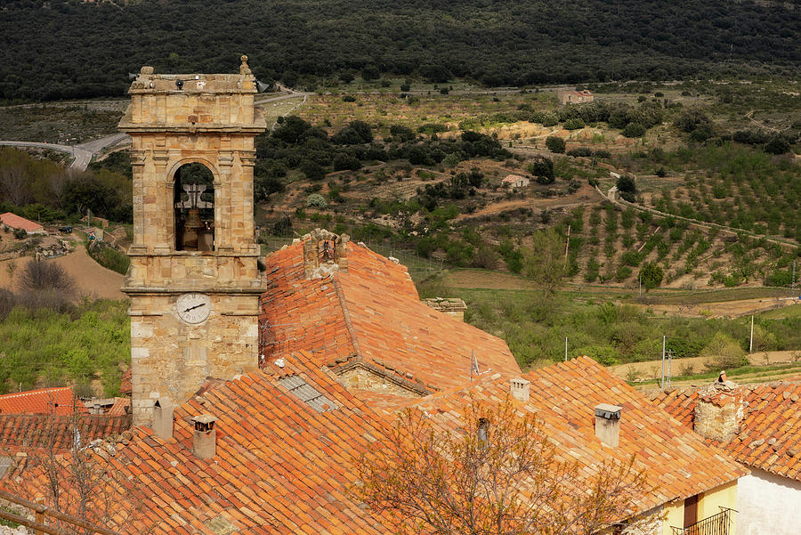 Castellon Photograph - The Bell Tower Of The Town Of Culla In Castellon by Vicen Photography