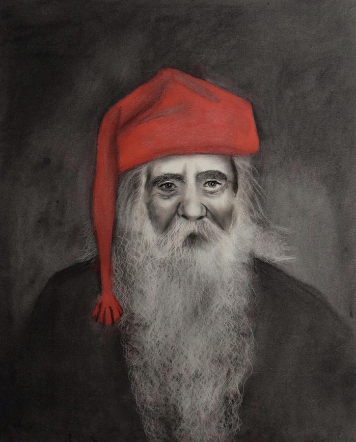 Belsnickel Drawing - The Belsnickel by Nadija Armusik
