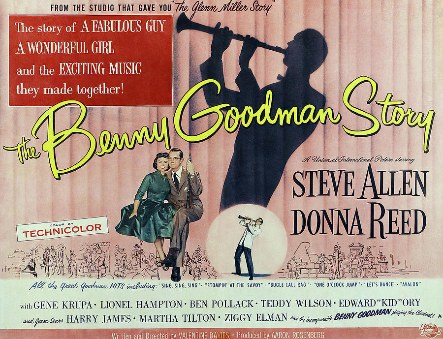 the Benny Goodman Story, With Steve Allen And Donna Reed, 1956 Mixed Media
