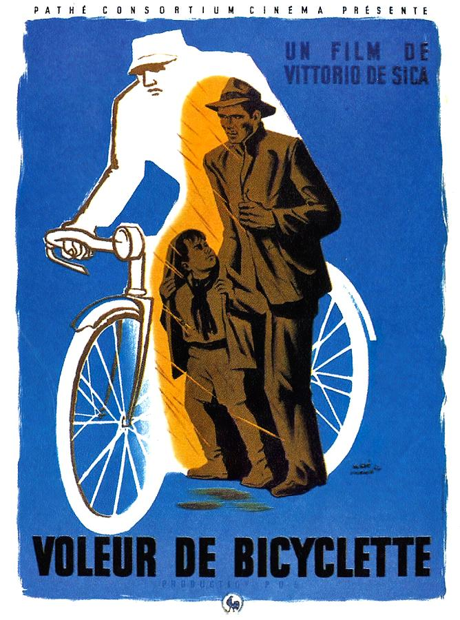 the Bicycle Thief - 1948 Mixed Media
