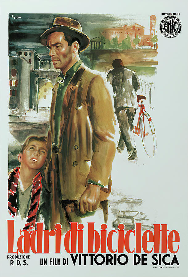 the Bicycle Thieves, 1948 Mixed Media