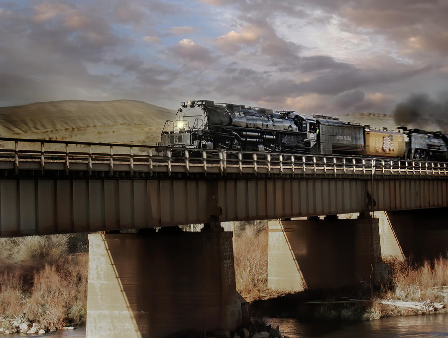 The Big Boy at Fort Steele Wyoming Photograph by Laura Terriere