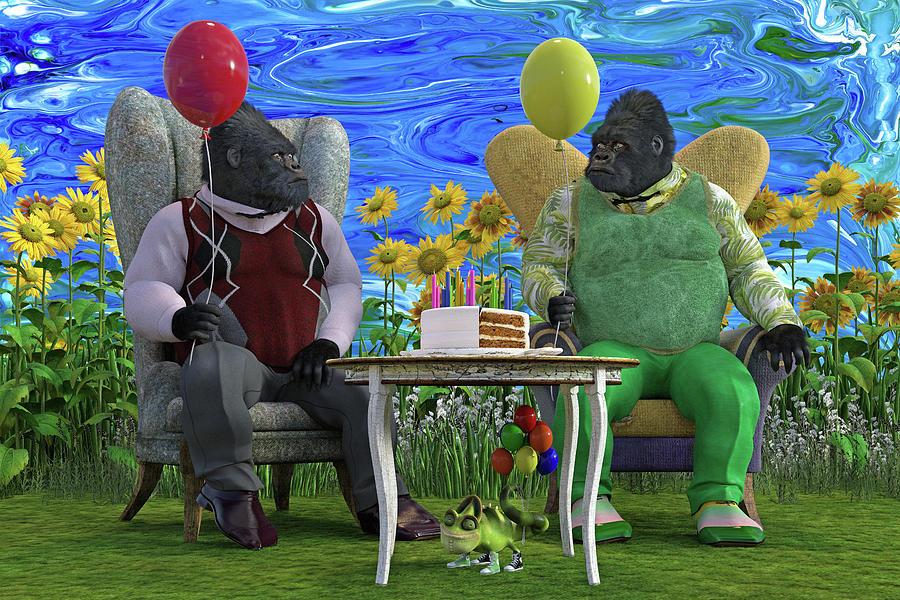 The Birthday Party Digital Art