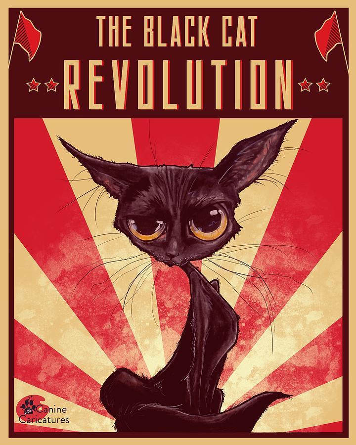 The Black Cat Revolution Drawing