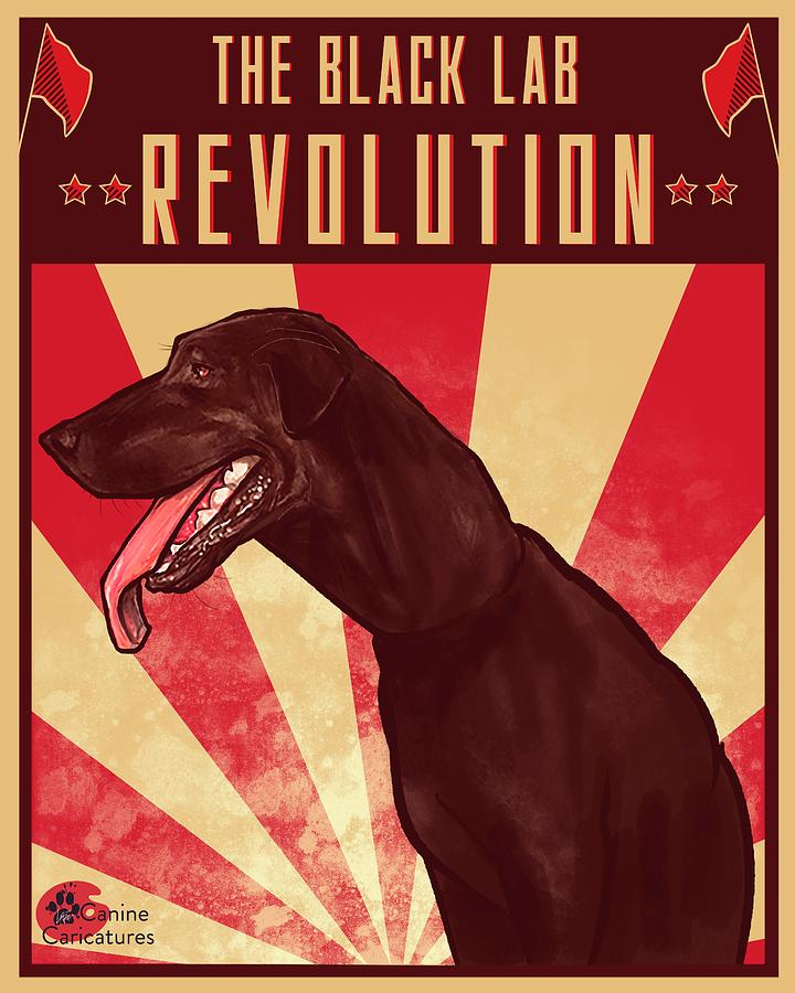 The Black Lab Revolution Drawing