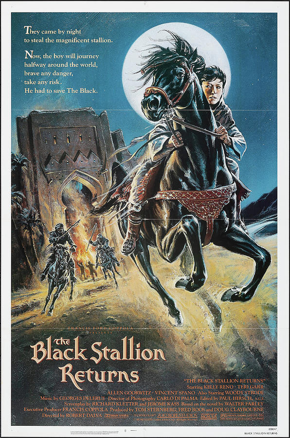 the Black Stallion Returns Poster 1979 Mixed Media