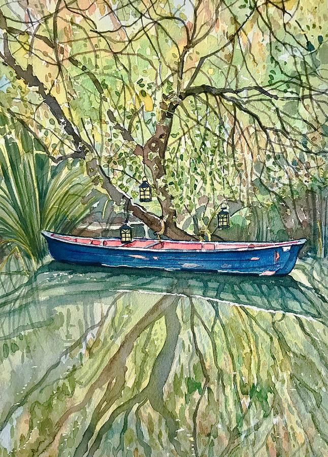 The Blue Canoe Painting