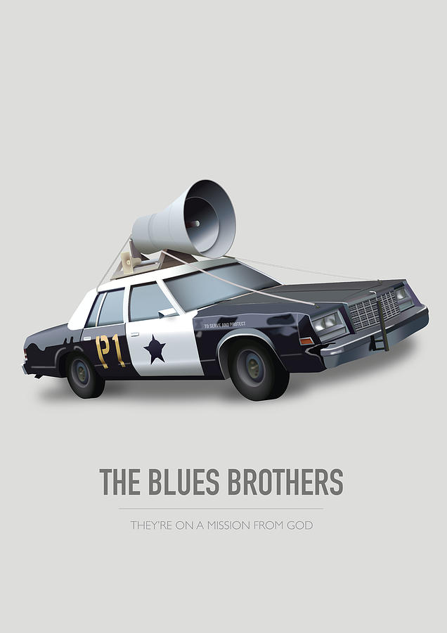 The Blues Brothers Digital Art - The Blues Brothers - Alternative Movie Poster by Movie Poster Boy