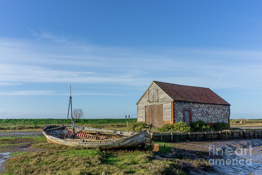 The Boat And Coal Barn At Thornham Staithe Photograph