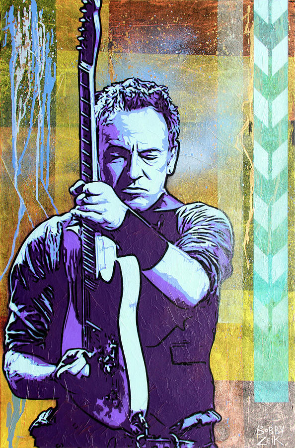 Bruce Springsteen Painting - The Boss by Bobby Zeik
