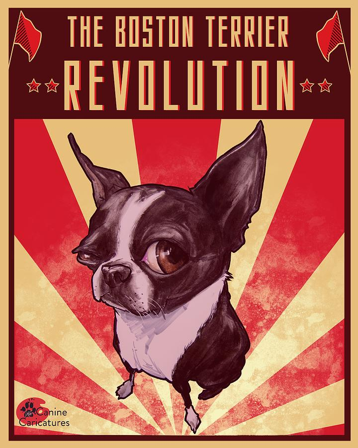 The Boston Terrier Revolution Drawing