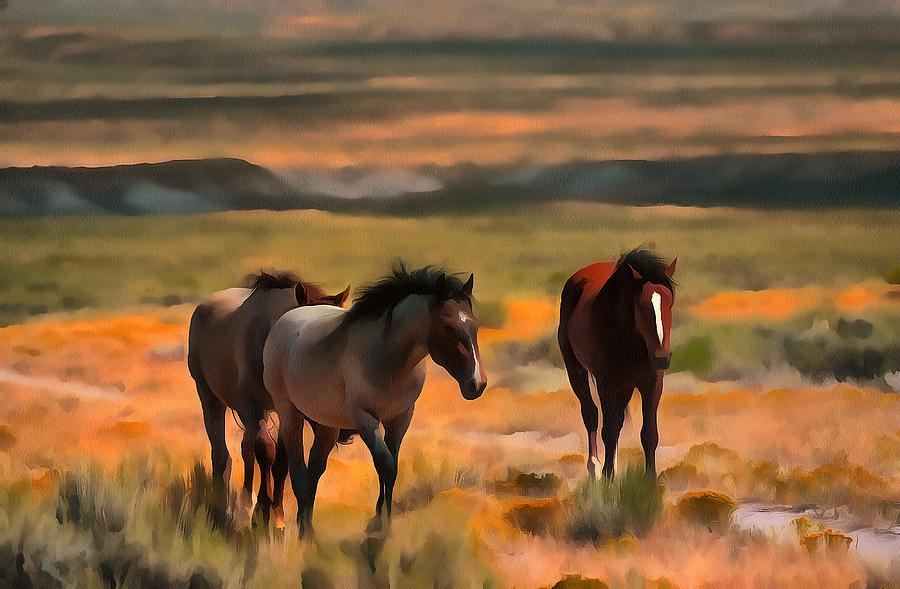 The Boys by Fine Art Western Paintings