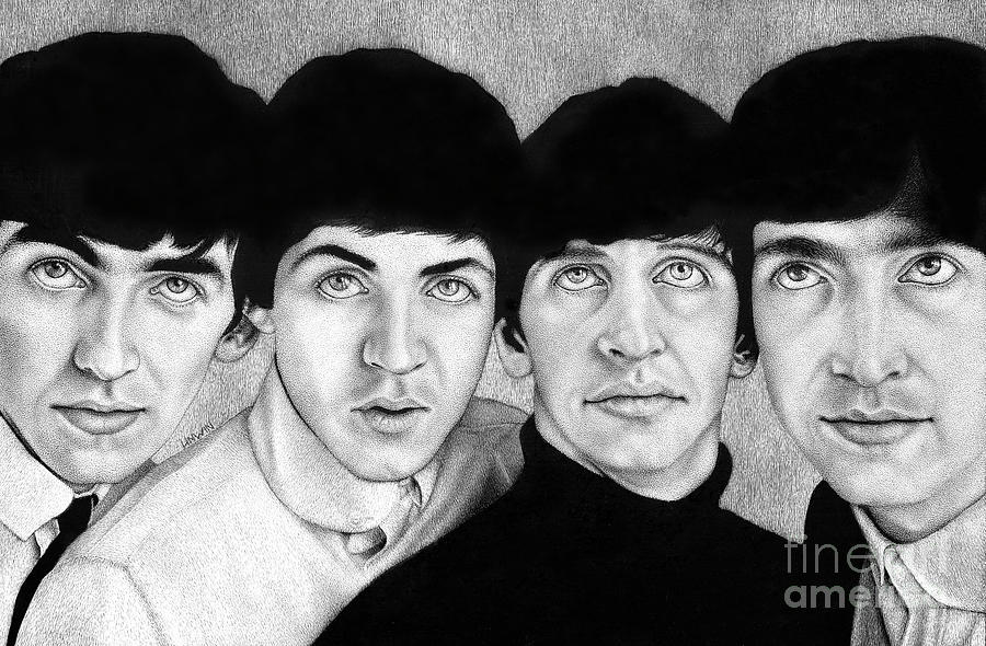 Beatles Drawing - The Boys from Liverpool by Sheryl Unwin
