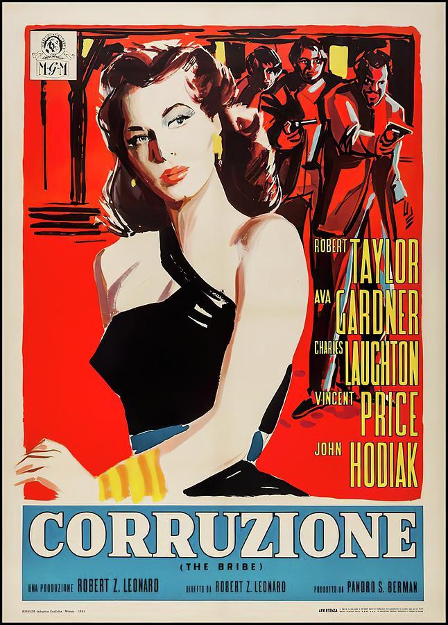 the Bribe, With Robert Taylor And Ava Gardner, 1949 Mixed Media